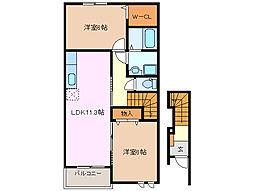 ミニヨン K[2階]の間取り