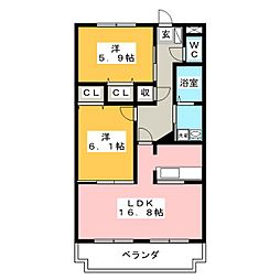 メゾンファミーユ[2階]の間取り