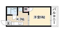 愛知県名古屋市緑区鳴海町字母呂後の賃貸アパートの間取り
