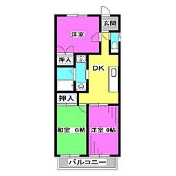 成安中央マンション[3階]の間取り