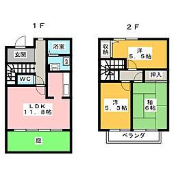 [テラスハウス] 愛知県岡崎市土井町字西番城 の賃貸【/】の間取り
