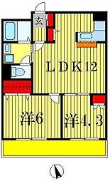 M・H2ビル[6階]の間取り
