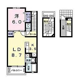 K-アイリス[3階]の間取り