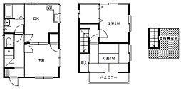 [一戸建] 埼玉県富士見市山室2丁目 の賃貸【/】の間取り