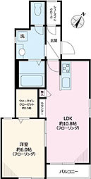 仮称)西片2丁目Tマンション 1階1LDKの間取り