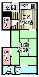 宏和アパート[2階]の間取り