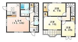 [一戸建] 兵庫県神戸市西区小山2丁目 の賃貸【兵庫県/神戸市西区】の間取り