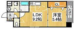 グランメゾンピア 8階1LDKの間取り
