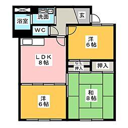 メゾンA3[2階]の間取り