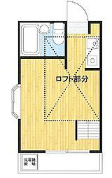 JR五日市線 東秋留駅 徒歩1分の賃貸アパート 2階ワンルームの間取り