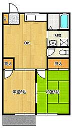 サンコーポ(藤崎4)[1階]の間取り