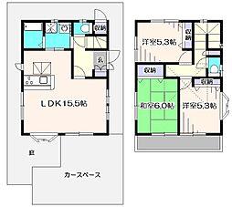 [一戸建] 東京都西東京市北町5丁目 の賃貸【/】の間取り