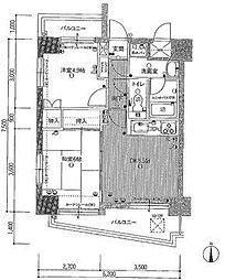ダイアパレス御門II[10階]の間取り