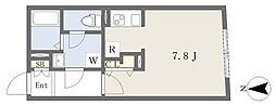 MTM東別院 2階1Kの間取り