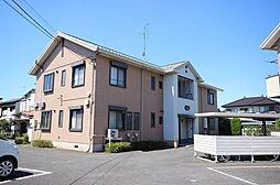 埼玉県春日部市大枝の賃貸アパートの外観