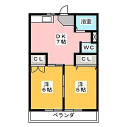 第2富士コーポ[2階]の間取り