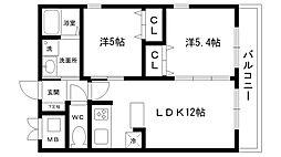 夙川寿マンション[201号室]の間取り