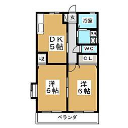 ファミールAI[2階]の間取り