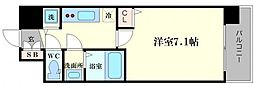 レオンコンフォート難波サウスゲート 8階1Kの間取り