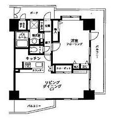 クリオ新子安伍番館[6階]の間取り