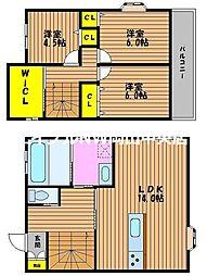 津島新野2丁目新築一戸建て 1階3LDKの間取り