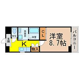 愛知県名古屋市中村区本陣通5の賃貸マンションの間取り