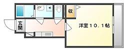 岡山県倉敷市玉島阿賀崎5丁目の賃貸アパートの間取り