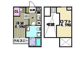 Pleasure SAKAI(プレジャーサカイ)[2階]の間取り