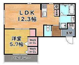 阪急神戸本線 王子公園駅 徒歩1分の賃貸マンション 4階1LDKの間取り