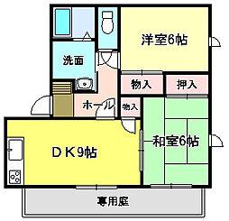 シェーンヴィラK&M1[1階]の間取り