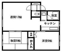 北海道札幌市清田区里塚三条3丁目の賃貸アパートの間取り