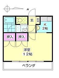 第6植木産業ビル[302号室]の間取り