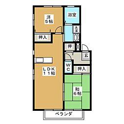 ファミールアイ A棟[2階]の間取り