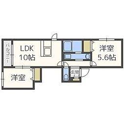 クレールN41[2階]の間取り