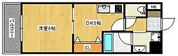 ルネッサンス21[13階]の間取り