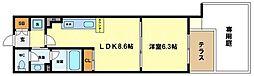 コンソラーレ土佐堀[1階]の間取り