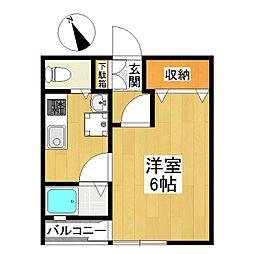 東京都狛江市岩戸北1丁目の賃貸アパートの間取り
