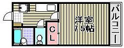 桜ヶ丘アパートメント[202号室]の間取り