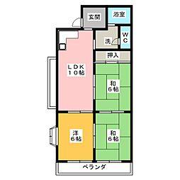 メゾンNAKA[1階]の間取り