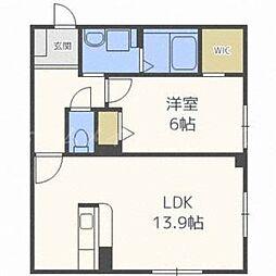 北海道札幌市東区本町二条3丁目の賃貸マンションの間取り