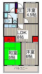 セントエルモ武蔵浦和[5階]の間取り