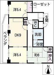 第五梅野ビル[4階]の間取り