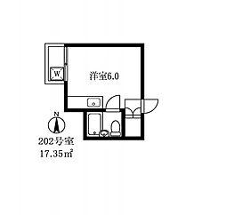 027809 サンハイツ洗足[202号室]の間取り