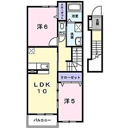 大阪府和泉市和気町3丁目の賃貸アパートの間取り