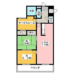宝マンション大須[13階]の間取り