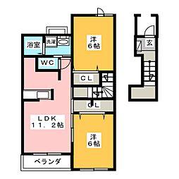 ヴィラ シャングリ・ラA[2階]の間取り