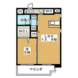 静岡県静岡市葵区本通10丁目の賃貸マンションの間取り