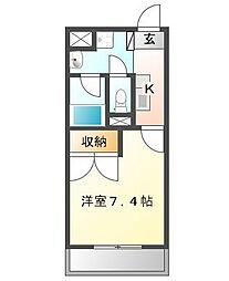フォックスレイクマンション[5階]の間取り