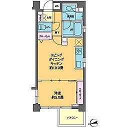 カスタリア高輪台II[5階]の間取り