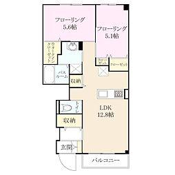 福岡県福岡市城南区南片江4丁目の賃貸アパートの間取り